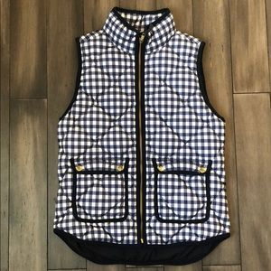 NWOT J. Crew Gingham Excursion Vest